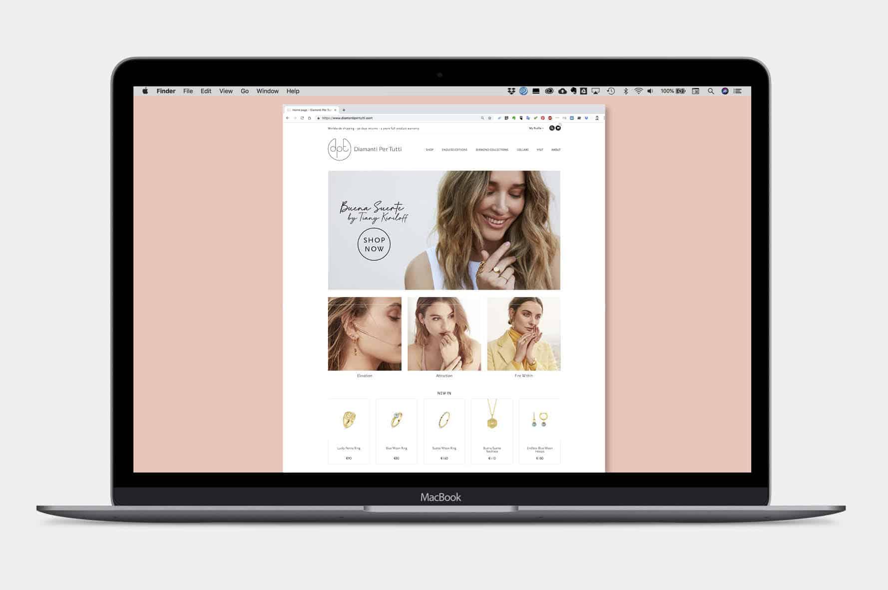 Website Diamanti Per Tutti - branding